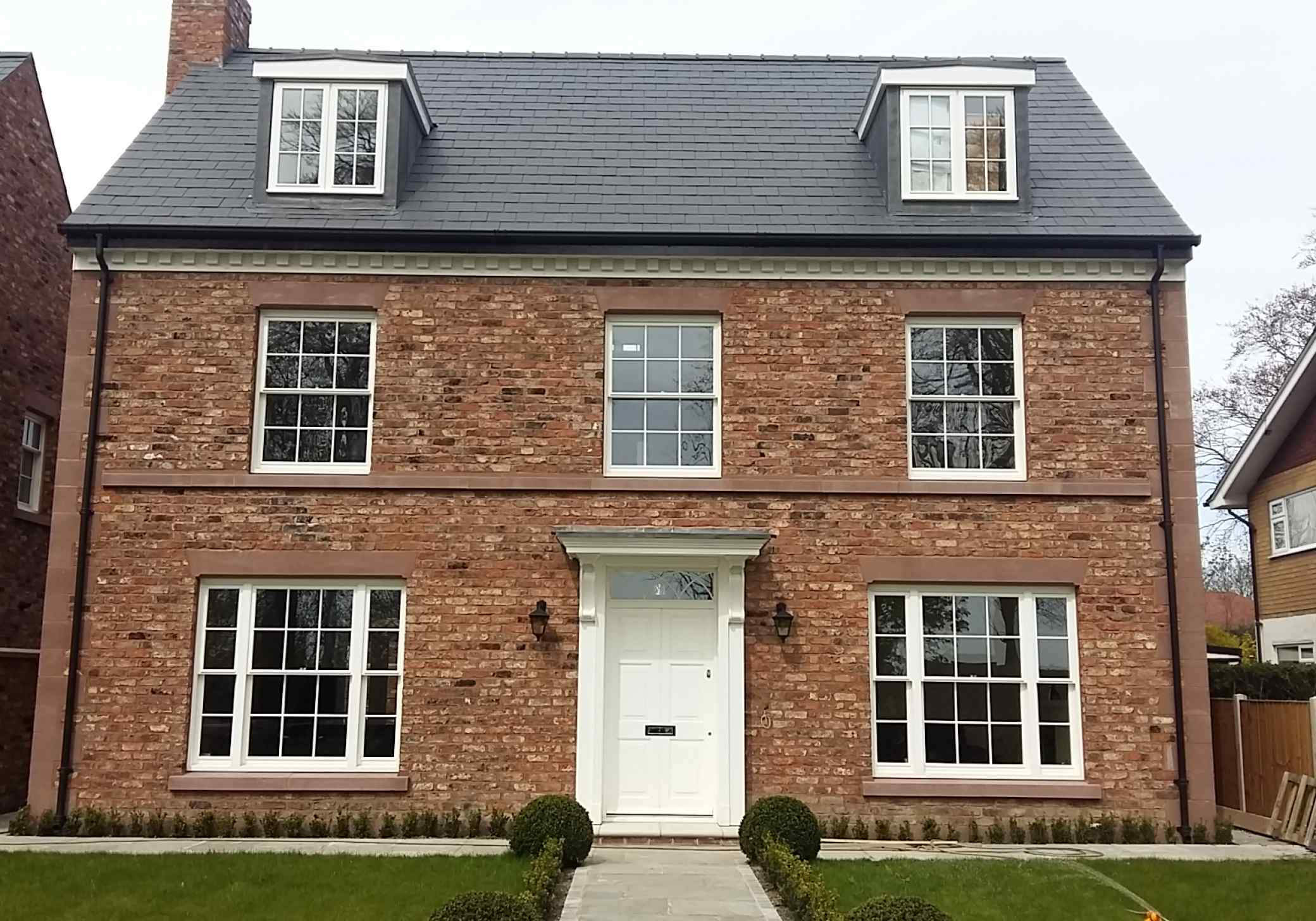 New georgian style houses hoole chester for Modern georgian style homes