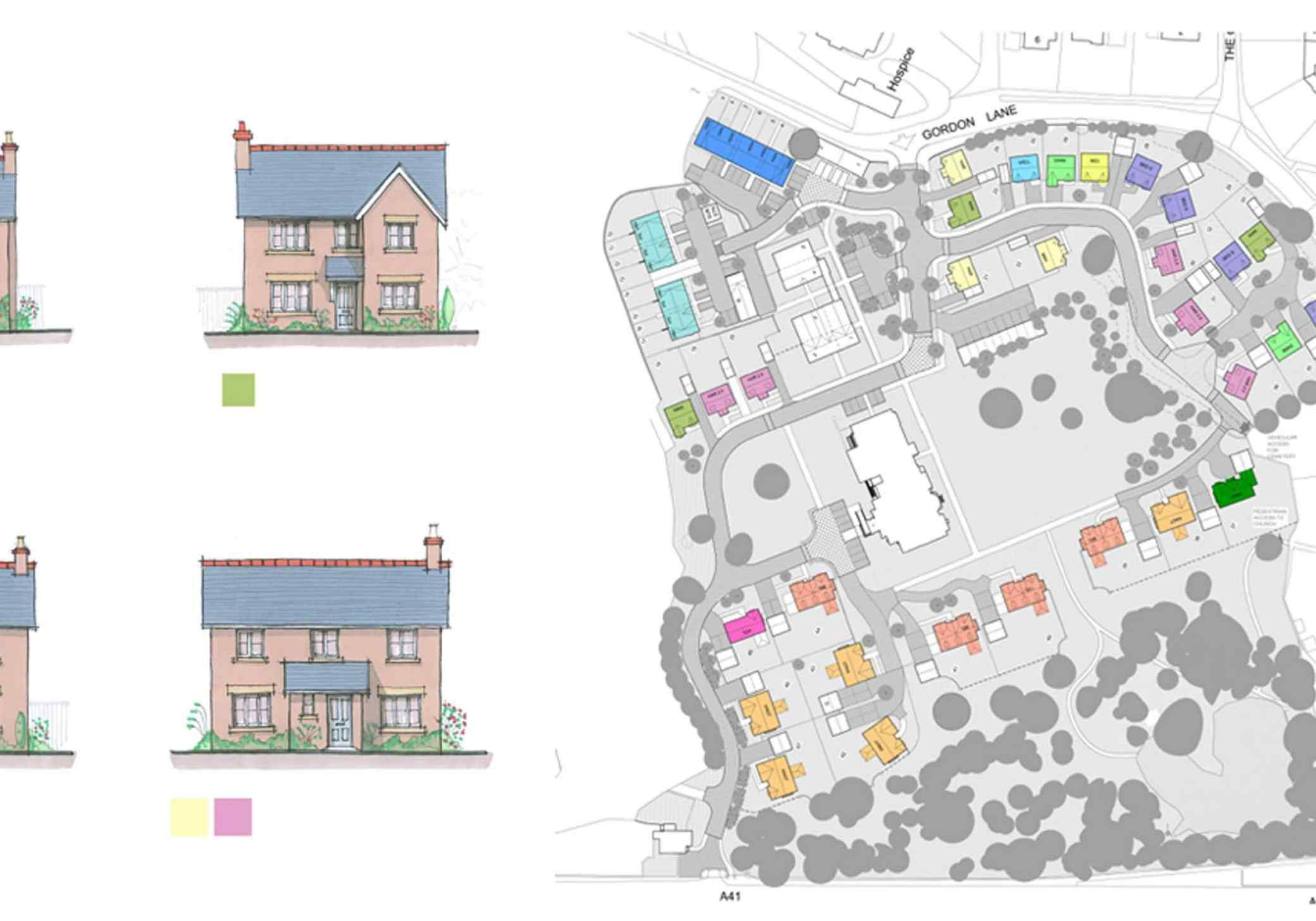 Backford Hall scheme layout