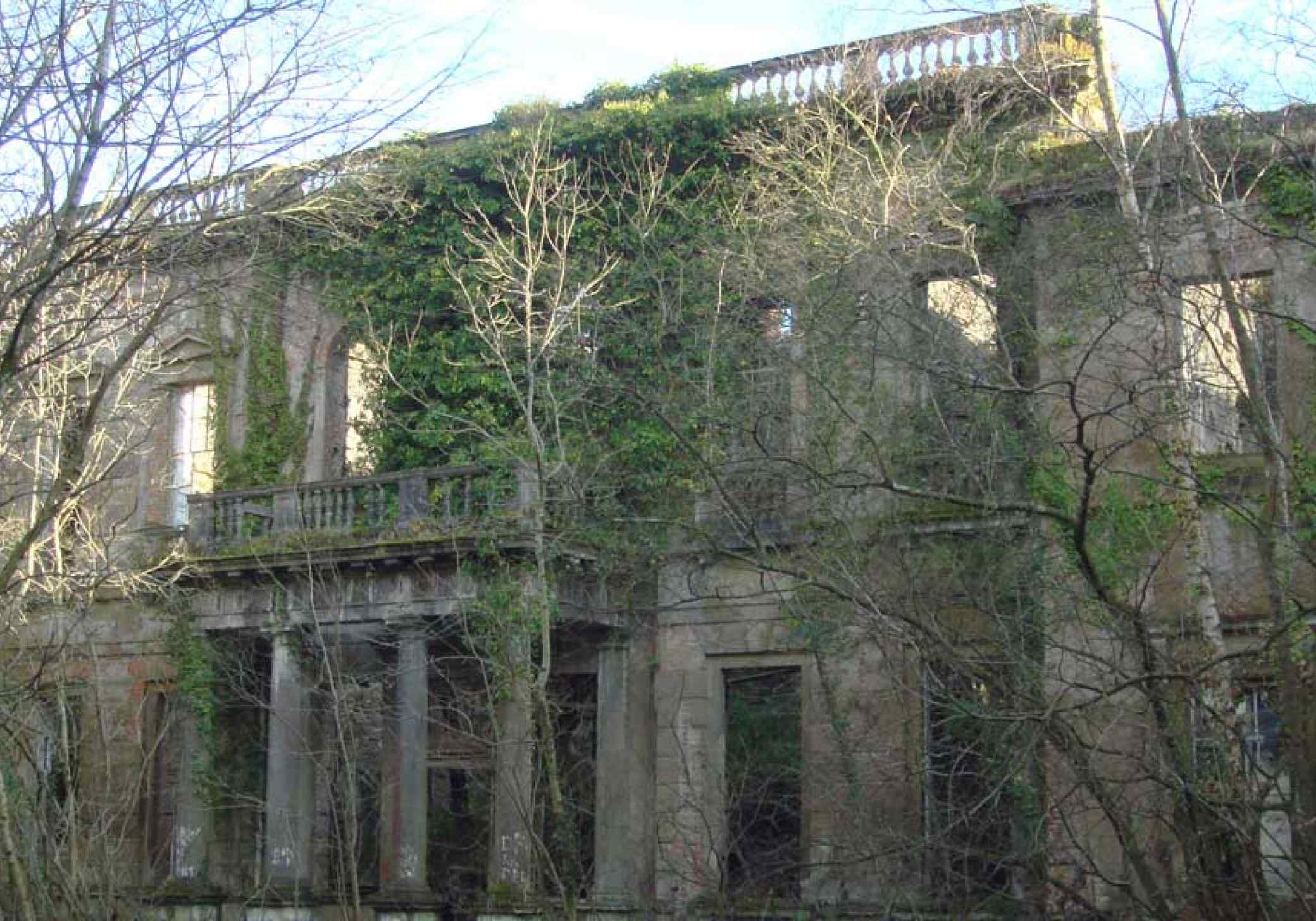 Baron Hill Beaumaris Anglesey current derelict structure