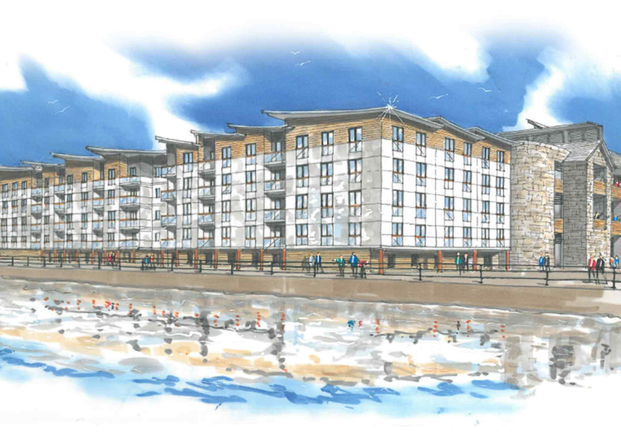 Victoria Dock Caernarfon architectural illustration
