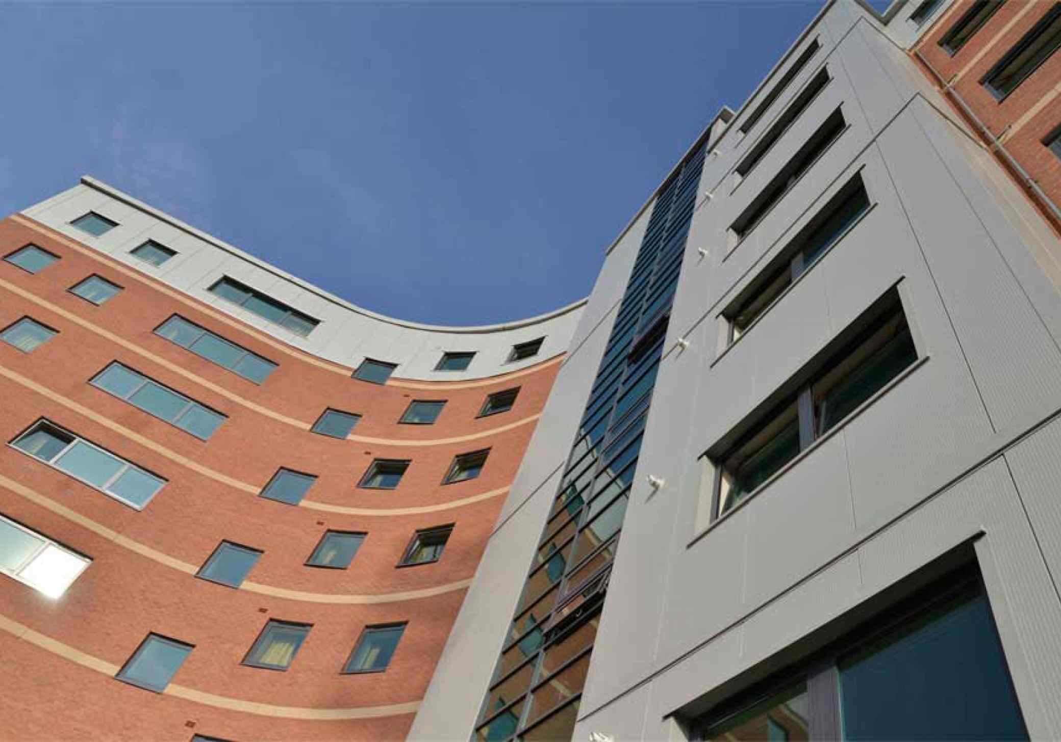 Wrexham Student Village buildings finish