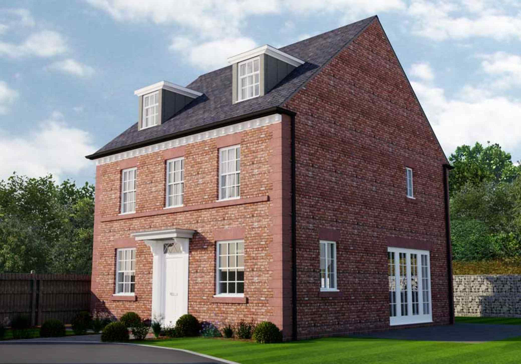 Georgian style dwelling kelsall cheshire for Georgian new build